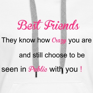 Best Friends Bluzy - Bluza damska Premium z kapturem