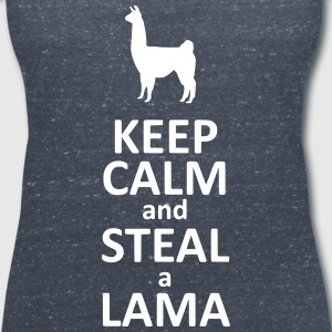 Keep calm and steal a Lama Tee shirts - T-shirt col V Femme