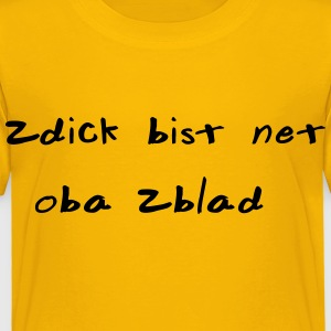 zu dick - Kinder Premium T-Shirt