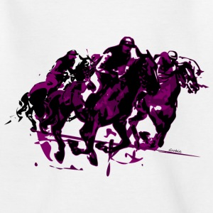 Paarden race Shirts - Teenager T-shirt