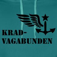 Motiv ~ Kapuzenpulli: Logo + Schriftzug vorne (schwarzer Aufdruck)