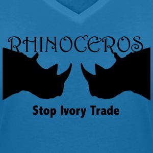 Rhino T-Shirts - Women's V-Neck T-Shirt