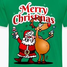 Merry Christmas - Santa Claus and his reindeer T-Shirts