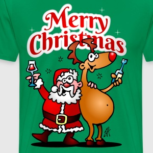 Merry Christmas - Santa Claus and his reindeer T-Shirts - Men's Premium T-Shirt