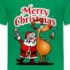Merry Christmas - De Kerstman en zijn rendier - Teenager Premium T-shirt