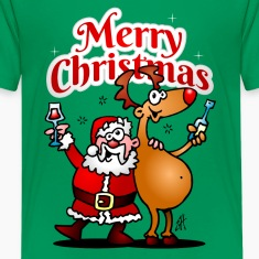 Merry Christmas - Santa Claus and his reindeer Shirts