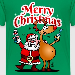 Merry Christmas - Santa Claus and his reindeer Shirts - Teenage Premium T-Shirt