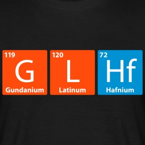 GLHF - Good Luck Have Fun (Periodic Table version) - Men's T-Shirt