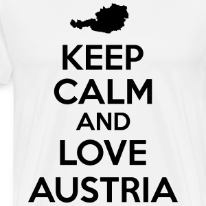 Keep calm and love Austria T-Shirts - Männer Premium T-Shirt