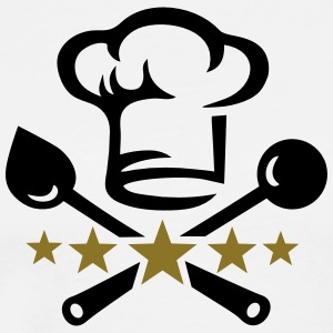 Chef's hat, five stars, cook, kitchen, restaurant Magliette - Maglietta Premium da uomo