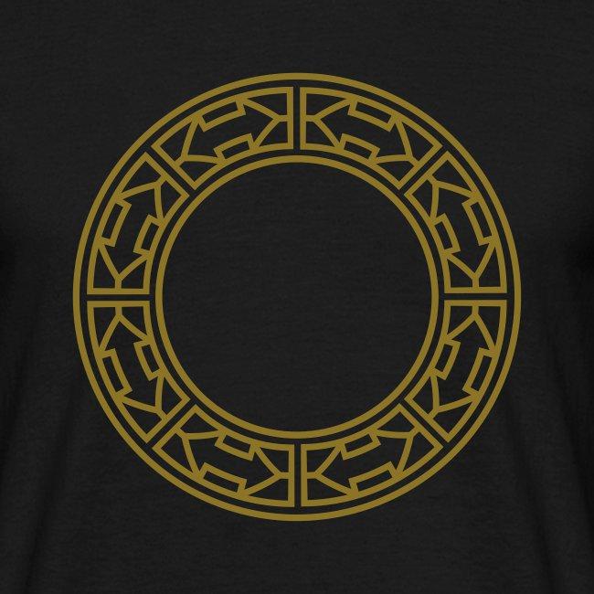 Goldene Doppel-Pfeile im Ring
