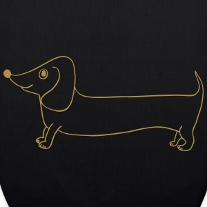 dog dachshund gold - EarthPositive Tote Bag