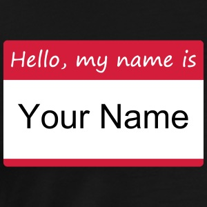 Hello, my name is - T-shirt Integrated name tag wi - Men's Premium T-Shirt