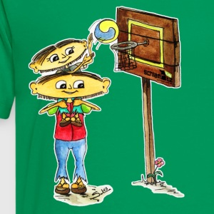 Maxl und Franzi: Beim Basketball T-Shirts - Teenager Premium T-Shirt