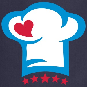Chef hat heart, 5 stars, cook, kitchen, restaurant Fartuchy - Fartuch kuchenny