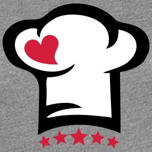 Chef hat heart, 5 stars, cook, kitchen, restaurant T-shirts - Premium-T-shirt dam