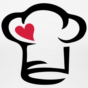 Chef's hat heart, cook, kitchen, chef, restaurant Magliette - Maglietta Premium da donna