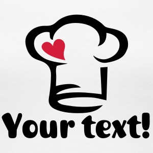 Chef's hat heart, cook, kitchen, chef, restaurant T-shirts - Dame premium T-shirt