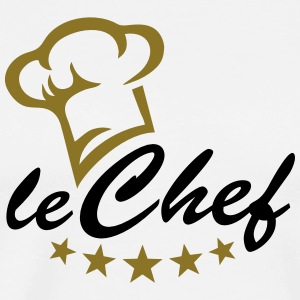 5 stars chef hat, cook, kitchen, restaurant, hotel T-Shirts - Men's Premium T-Shirt