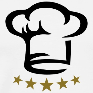 Five star chef hat, gold, hotel, cook, kitchen, 5, - Männer Premium T-Shirt