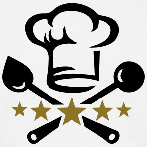 Chef's hat, five stars, cook, kitchen, restaurant T-shirts - T-shirt herr