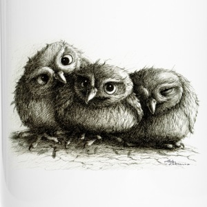 chouettes - three young owls - Mug thermos