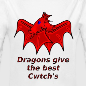 wales dragons give the best welsh cwtch's - Longlseeve Baby Bodysuit