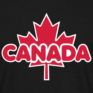 CANADA Maple Leaf 2 Colors Flag Design T-Shirt - Koszulka męska