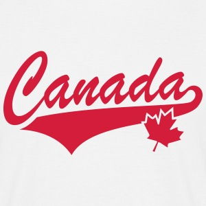 Canada Maple Leaf Tail-Design T-Shirt RW - T-skjorte for menn