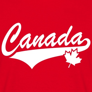 Canada Maple Leaf Tail-Design T-Shirt WR - Maglietta da uomo