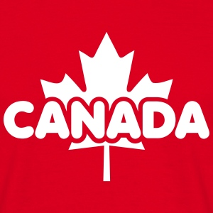CANADA Maple Leaf Flag Design T-Shirt WR - T-shirt herr