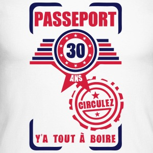 30 ans passeport anniversaire circulez Tee shirts manches longues - T-shirt baseball manches longues Homme