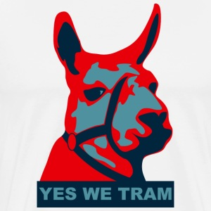 Serge le lama - yes we tram T-Shirts - Men's Premium T-Shirt