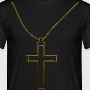 collier Croix Tee shirts - T-shirt Homme