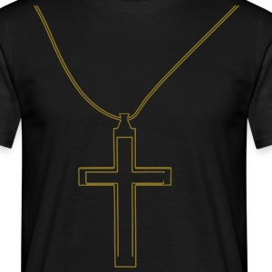 Cross necklace T-Shirts - Men's T-Shirt