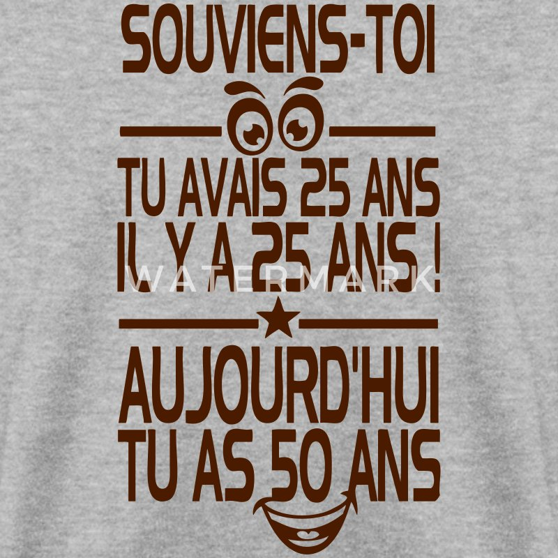 50 ans souvenir anniversaire smiley Sweat-shirts - Sweat-shirt Homme