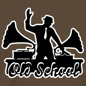 DJ, Gramophone, Swing, Old School, Music, Dancing, T-skjorter - Premium T-skjorte for menn