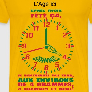 ajouter age ans horloge grammes annivers Tee shirts - T-shirt Premium Homme