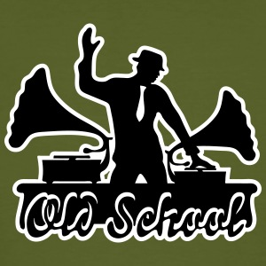 DJ, Gramophone, Swing, Old School, Music, Dancing, T-skjorter - Økologisk T-skjorte for menn