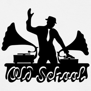 DJ Old School, gramophone, swing, musique, danse Tee shirts - T-shirt Homme