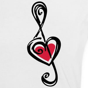 Heart clef, classic, treble, note, music, violin T-Shirts - Women's Ringer T-Shirt
