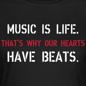 Music Is Life T-shirts - Dame-T-shirt