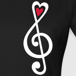 Music, heart notes, classic, treble clef, violin Koszulki - Koszulka damska