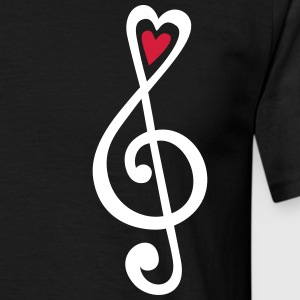 Music, heart notes, classic, treble clef, violin T - Men's T-Shirt