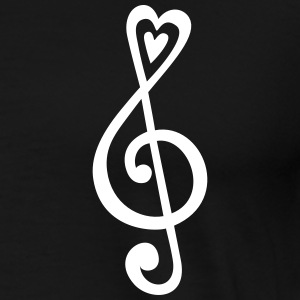 Music, heart notes, classic, treble clef, violin T-shirts - Herre premium T-shirt