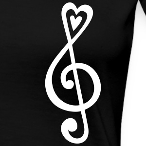 Music, heart notes, classic, treble clef, violin T-skjorter - Premium T-skjorte for kvinner