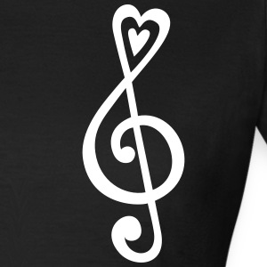 Music, heart notes, classic, treble clef, violin T-skjorter - T-skjorte for kvinner
