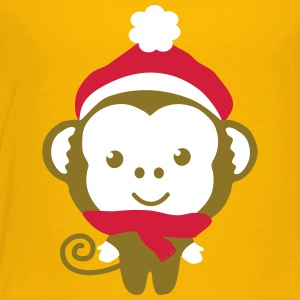 monkey_christmas_2 T-shirts - Premium-T-shirt barn