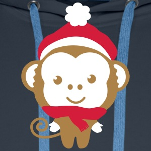 monkey_christmas_2 Sweat-shirts - Sweat-shirt à capuche Premium pour hommes