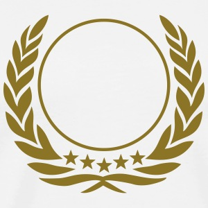 Laurel wreath, 5 stars, Award, Best, hero, winner  T-Shirts - Men's Premium T-Shirt